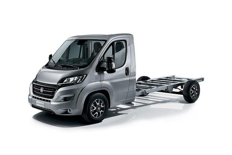 Fiat Ducato e-Ducato 35 LWB Elec 47kWh 90KW FWD 122PS  Chassis Cab Auto [7kW Charger] front view